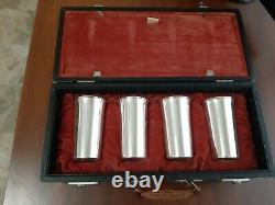 Vintage Mint Julep Cups Solid Sterling Silver Over 33 oz with Original Case