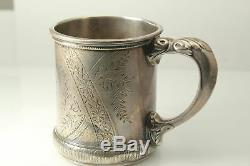 Vintage Monogrammed Sterling Silver 333 C Baby or Child Cup (ANT2184)