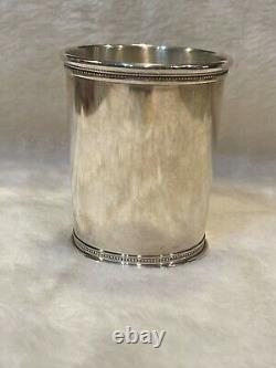 Vintage Reed & Barton Beaded Sterling Mint Julep Cup X253 No Monogram with tag