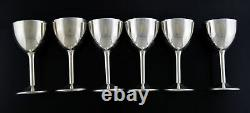 Vintage Set Of 6 Cartier Pattern #82 Sterling Silver Cordial Cups 3.5 No Mono
