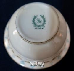 Vintage Set of Four Lenox Bouillon Cups with Sterling Silver Holders