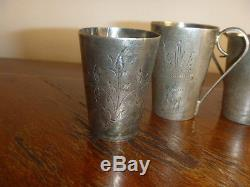 Vintage Soviet Russian Russia Sterling Silver 875 Vodka Cup 3