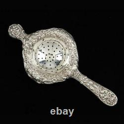 Vintage Tea Strainer Kirk Stieff Repousse Sterling Over Cup 1940's Freeship