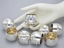 Vintage Tiffany & Co. Makers 25005 Sterling Silver Shot / Liquor Cups Set of 8