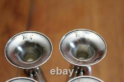 Vintage Tiffany & Co Makers Sterling Set of Four Silver 3 Cordial Cups IOB