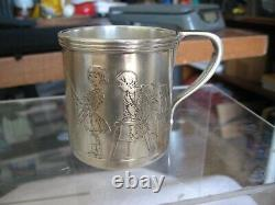 Vintage Tiffany & Co Rare & Unusual Sterling Silver Baby Christening Cup-ml
