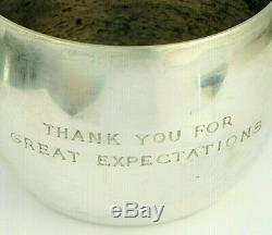 Vintage Tiffany & Co Sterling Silver Thank You For Great Expectations Trophy Cup
