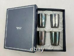 Vintage Tiffany Sterling Silver Liquor Shot Cups Shot Glasses in Box Germany