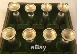 Wallace Sterling Cordials Cups In Original Display Box Set Of 8