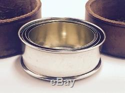 Wallace Sterling Silver Collapsable Travel Cup With Leather Case